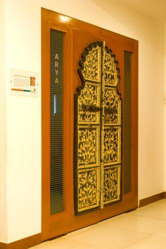 ... An Old Rajasthani Door Panel Fused Within A Modern Wooden Door Frame.  ...